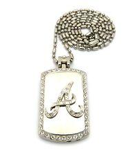 """A"" Cigarette Lighter Dog Tag Pendant 36"" Sausage Chain Hip Hop NecklaceFCP165"