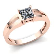 0.25carat Princess Cut Diamond Ladies Bridal Solitaire Engagement Ring 18K Gold
