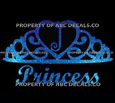 VRS Crown Royal Tiara Queen Princess Heart Love Custom INITIAL J Car Metal Decal