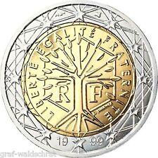 2 Euro FRANKREICH ab 1999 alle Jahre - unc - frei wählbar