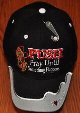 PUSH Pray Until Something Happens Christian Hat Ball Cap Camo Black Blue Pink