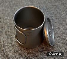 Travel Camp Office Home Titanium Folding Handle Coffee Water Cup Mug 220-900ML
