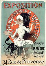 Vintage French Art Nouveau Shabby Chic Prints & Posters 041 A1,A2,A3,A4 Sizes