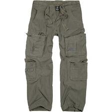 Brandit Puro Vintage Estilo Militar Combate Algodón Pantalones Pantalones Oliva