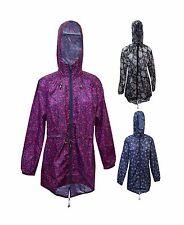 New Women Ladies Fish Tail Rain coat Jacket Hooded Mac Wear Plus Size 8-22