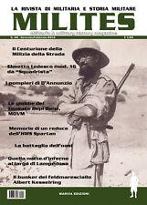 MILITES n48 - rivista militaria magazine MVSN Lampedusa HMS Spartan Kesselring
