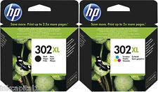 Hp N ° 302xl Black & Color Multi Pack Original Oem De Inyección De Tinta Cartuchos