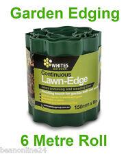6 metres x 150mm GREEN Garden Edging Fluted Plastic Border Edge Corrugated