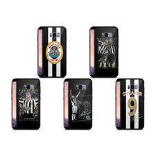 NEWCASTLE UNITED FC NUFC RETRO BADGE BLACK HYBRID GLASS CASE FOR SAMSUNG PHONES