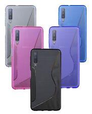 Samsung Galaxy A7 2018 ( A750F ) // Handyhülle FARBE frei wählbar Blau Pink Lila