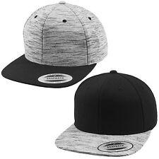 FLEXFIT® STRIPES MELANGE SNAPBACK CAP Visor Crown Yupoong Classic Baseball Kappe