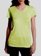 Calvin Klein Jeans WKD473 Pale Urchin Green Solid V-Neck Tee - MSRP $39.50