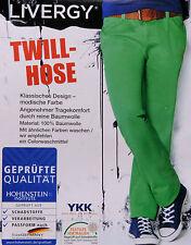 Herren Hose Twill Sommerhose Grün Lang Freizeithose 48 50 52 S M L Jeans NEU