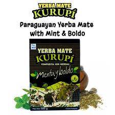 Yerba mate Kurupi Pepermint & Boldo Té Suelto la energía de refuerzo antiácido 500g, 1kg