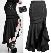 EN STOCK Jupe fendue gothique lolita burlesque pin-up militaire fashion Punkrave
