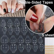 5Sheet/Pack Adhesive Tabs Crystal Tape For Press On Nails False Nail Stickers UK