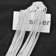 Silver Jewelry Neckalce Fashion Prayer Beads Ball Link Chain for Pendant 10PCS