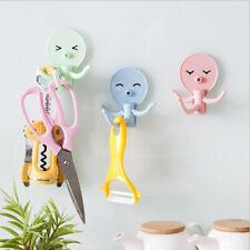 BL_ Kitchen Bathroom Cartoon Octopus Hook Strong Adhesive Towel Wall Hanger Dazz