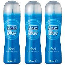 Durex Play Feel Pleasure Gel Classic Sex Lube Lubricant 50ml 1,2 or 3 Bottles