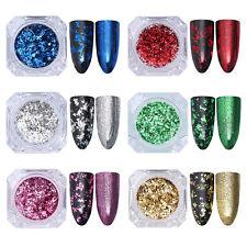 BORN PRETTY Unregelmäßige Nagel Sequins Glitter Paillette Nail Flakes Powder