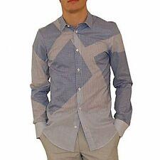 Alexander McQueen camicia intarsi, plaid and striped shirt