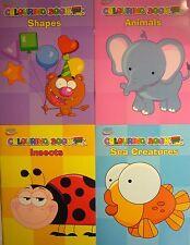 Colorante educativo libros y palabras simples (formas, animales, insectos, mar)