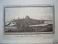 Exeter  Devon Großbritannien alter Kupferstich 1750