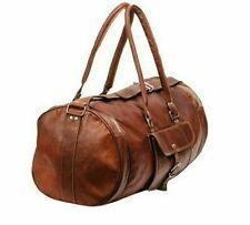 Vintage Genuine Leather Holdall Travel Weekend Luxurious  Sports Duffel Bag.