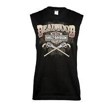Deadwood Harley-Davidson® Men's Wild Bill Black Sleeveless T-Shirt