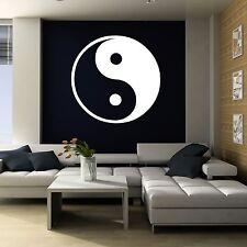 XXL Ying und Yang Wandtattoo 115cm x 115cm Aufkleber Wohnzimmer