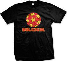 Belgium Soccer Ball Belgian Country Football Red Devils Pride  Men's T-shirt
