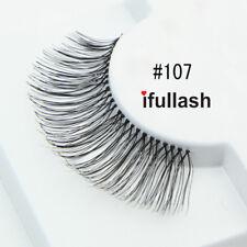 #107 6 or 12 pairs of ifullash 100% human hair Eyelashes- BLACK