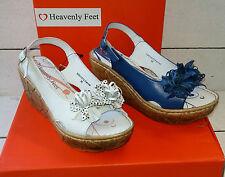 Ladies Heavenly Feet Fennel Wedge Sling Back Sandals