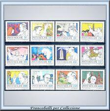 Vaticano 1984 Viaggi Papa nel mondo 1981-82 n. 755/766