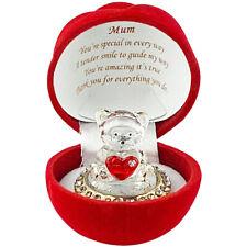 Mum Mothers Day Gift Mummy Birthday Anniversary Present Teddy Bear Rose Box