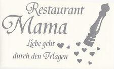 Wandtattoo WandaufkleberEssen Restaurant Mama liebe geht durch den Magen Küche