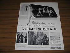 1950 Vintage Ad Playtex Fab-Lined Girdles Ladies Dance in Underwear