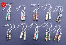 Wholesale 10X Pairs Multicolor Knobble Cloisonne Dangle Earrings for Women Hook