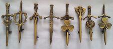 "Scottish Kilt Pin Antique Finish Various Design 4""/Celtic Pin Brooch Thistle"