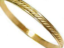 filled asst sizes slip-on sturdy bangles Unique bangles Genuine 1/20 -14k gold