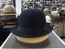 BORSALINO NAVY BLUE OPEN CROWN FUR FELT DRESS HAT (READ DETAILS ABOUT SIZE)