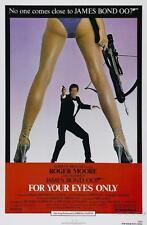 Solo PER I TUOI OCCHI Roger Moore James Bond Film Poster Film a4 a3 arte stampa cinema