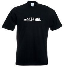 Mens evolution t shirt ape to man evolution motorbike evolution t shirt