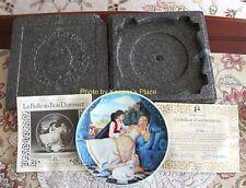 Limoges - Turgot Porcelain Sleeping Beauty Collectors Plate Case Coa Brochure