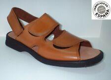 Sandalia piel velcro color nego o marrón tallas 39 a 46