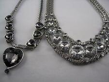 Riesiges opulentes Collier mit Glas Steinen besetzt Design wählbar