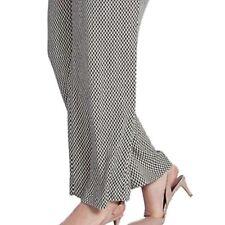 Pliegue de la marca Damas no Luz Pantalones De Pierna Ancha Lado Cintura Bolsillos con Cremallera