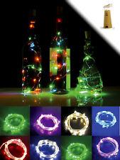 2er SET LED Korken Tischlampe Flaschenbeleuchtung Cork Bottle Light Kette Licht