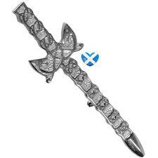 Celtic Style Sword Kilt Pin - BRAND NEW - Chrome Finish - Scottish Highland Wear