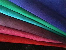 Soft Pig Suede Skins Hides Black Pink Red Blue Silky Leather Craft Large 15 sqft